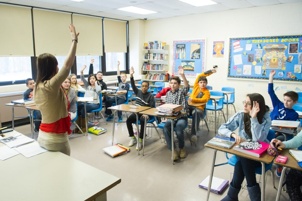 College Classroom Stock Photos and Images