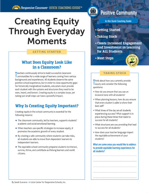 Creating Equity Through Everyday Moments