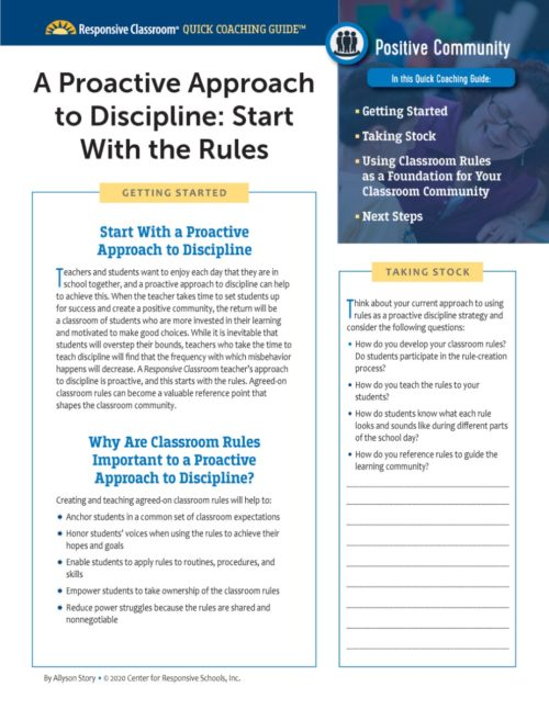 A Proactive Approach to Discipline