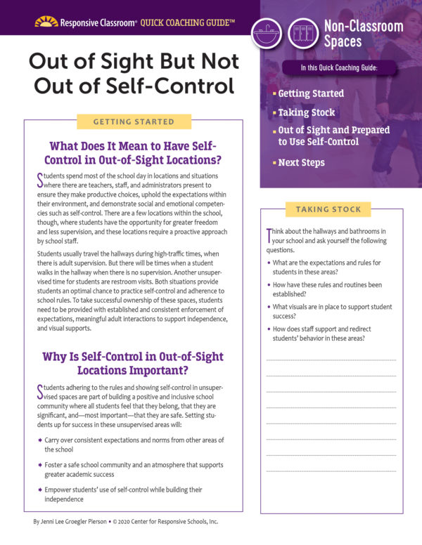 Quick Coaching Guide: Out of sight but not out of self-control