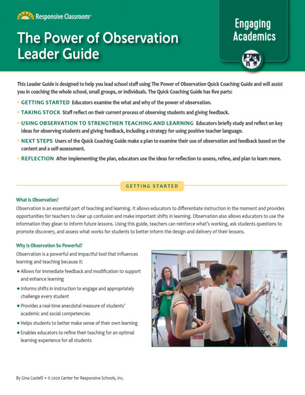 Leadership Guide: The Power of Observations